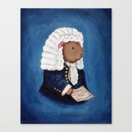 Johann Sebastian Bach the Guinea Pig Canvas Print