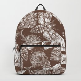 Bones in Brown Backpack