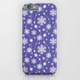 Purple Holiday Snowflake Pattern iPhone Case