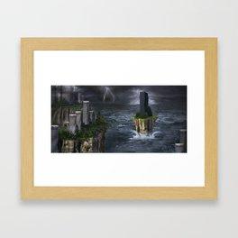 Global warming Framed Art Print