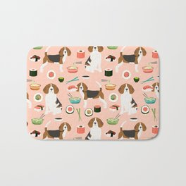 beagle sushi dog lover pet gifts cute beagles pure breeds Bath Mat