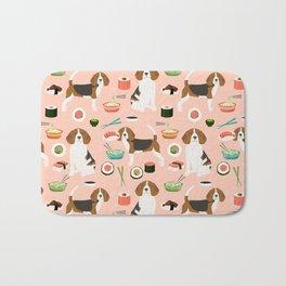 beagle sushi dog lover pet gifts cute beagles pure breeds Bath Mat