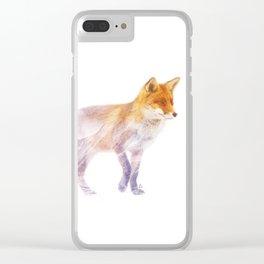 Wild animals : Fox Clear iPhone Case