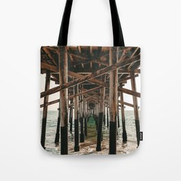 Balboa Pier Print {1 of 3} | Newport Beach Ocean Photography Teal Summer Sun Wave Art Tote Bag