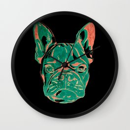 Frenchie Puppy Wall Clock