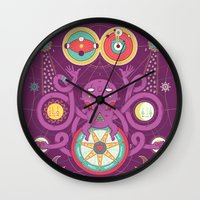 cosmos Wall Clocks featuring Cosmos by Martin Orza