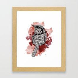 One Little Bird (Red Version) Framed Art Print