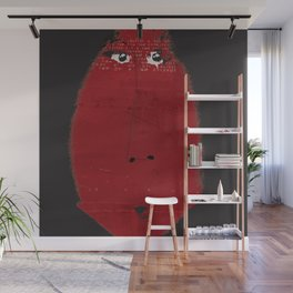 « une grosse madame rouge » Wall Mural