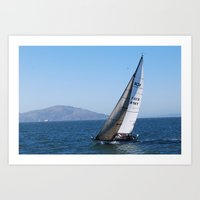 Bay Sails Art Print