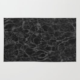 Black and White Fire Water Rug