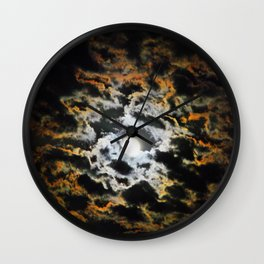 Tiger Full Moon Wall Clock