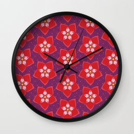 Hoya Red Wall Clock