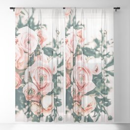 Bouquet Blooming Sheer Curtain