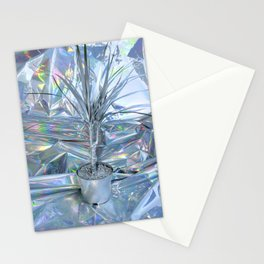 SILVER PALM tree Stationery Cards