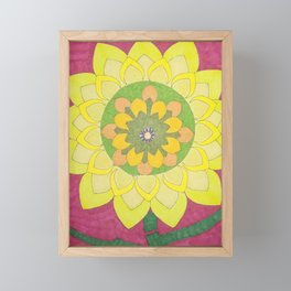 Flower of My Sun Framed Mini Art Print