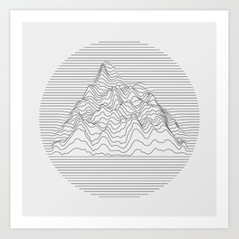 Mountain lines Art Print