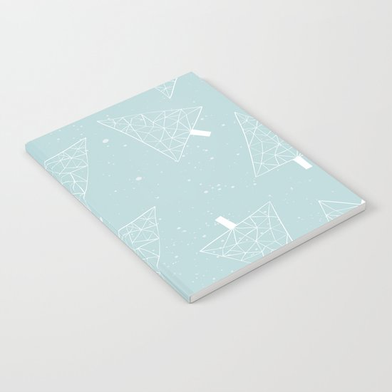 Christmas Trees Light Blue Notebook