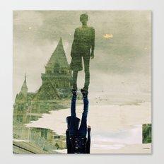 the fountain. Canvas Print