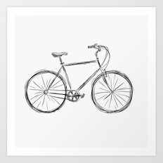 Simple bike 3 Art Print
