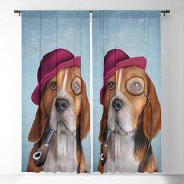 Drawing Dog Beagle Blackout Curtain