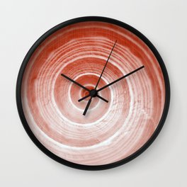 coquillage rouge forme Wall Clock