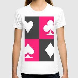 I love gambling. Playing card set. T-shirt