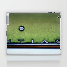 Textured Detail Of An Old Pontiac Junker In Neon Laptop & iPad Skin