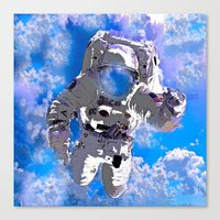 astronaut Canvas Prints featuring Astronaut  by Saundra Myles