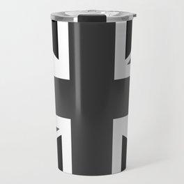 Union Jack - Black and White Travel Mug