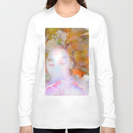 Sleeping with fish Long Sleeve T-shirt