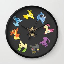 Eevee Evolutions Wall Clock