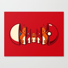 Poketryoshka - Fire Type Canvas Print