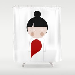 japan animation (in love..girl) Shower Curtain