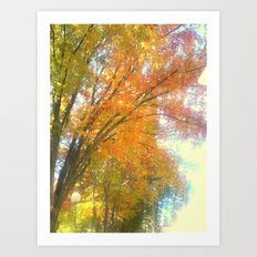 Dripping Trees Art Print