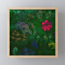 Gathering of Flowers - [Green Version] Framed Mini Art Print