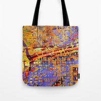 chicago Tote Bags featuring chicago by donphil