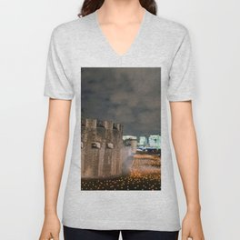 Tower of London Beyond The Deepening Shadow Unisex V-Neck
