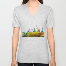 fabulous city painted Unisex V-Neck