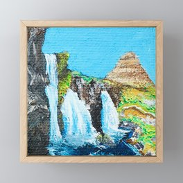 Two Inches of Iceland Framed Mini Art Print