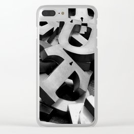 Letters Clear iPhone Case