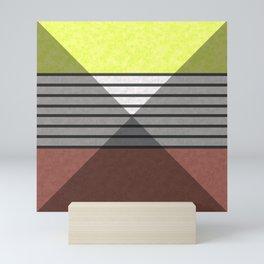 Patchwork , combined pattern 2 Mini Art Print