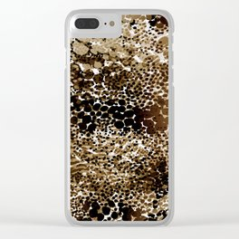 flow of dots in ochre Clear iPhone Case