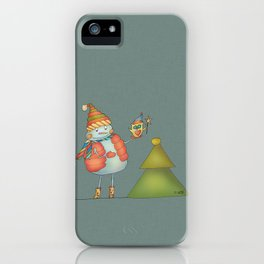Friends keep warm - greyish iPhone Case