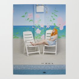holly as me (indoor pool) Poster