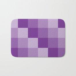 Four Shades of Purple Square Bath Mat
