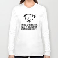 philosophy Long Sleeve T-shirts featuring Life Philosophy (Anonymous) Wall Art01 Color by Chicca Besso