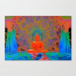 Cool Water Zen (Ultraviolet) (psychedelic, meditation) Canvas Print