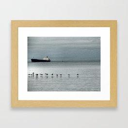 Wait for me. Framed Art Print