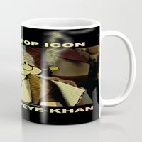 popeye Mugs featuring POP ICON / POPEYE-KHAN 025 by Lazy Bones Studios