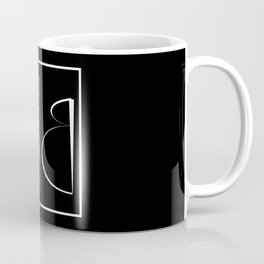 """ Mirror Collection "" - Minimal Letter B Print Coffee Mug"